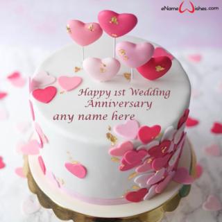 1st-wedding-anniversary-cake-with-name
