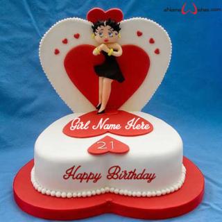 21st Birthday Wish Name Cake