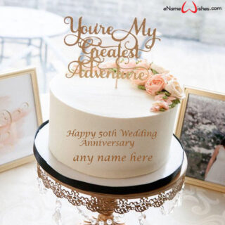 50th-wedding-anniversary-cake-with-name