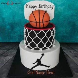 Amazing-Basket-Ball-Birthday-Name-Cake
