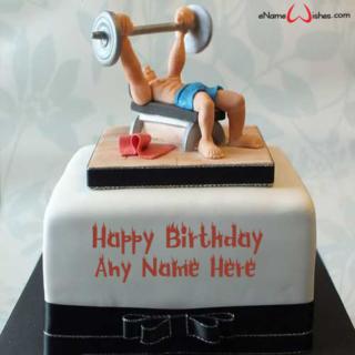 Amazing-Body-Builder-Birthday-Name-Cake
