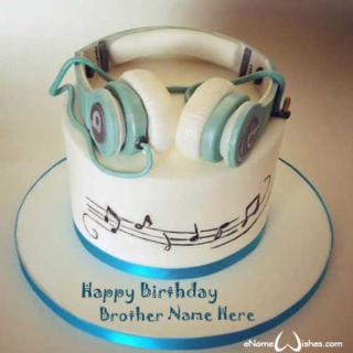 Amazing-Earphones-Birthday-Name-Cake