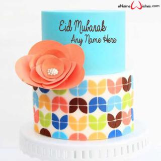 Amazing-Flower-Petal-Eid-Wish-Cake-with-Name