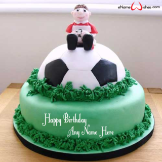Amazing-Football-Birthday-Name-Cake