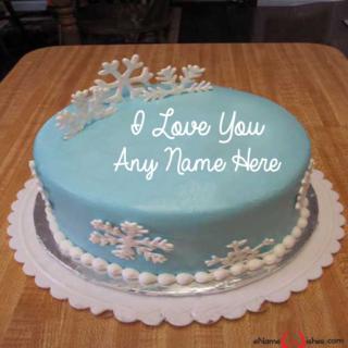 Amazing-Frozen-Love-Wish-Name-Cake