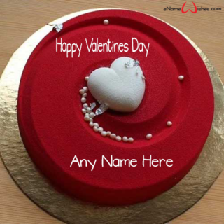 Amazing-Heart-Red-Velvet-Name-Wish-Cake-for-Valentines Day