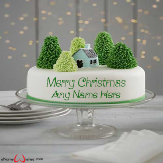 Amazing-Merry-Christmas-Cake-with-Name