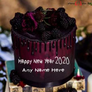 Amazing-New-Year-2020-Blackberry-Name-Cake