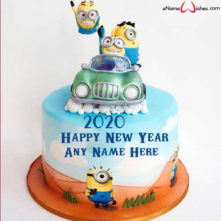 Amazing-New-Year-2020-Minions-Cake-with-Name