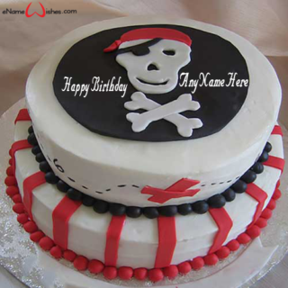 Amazing-Pirates-Name-Birthday-Cake