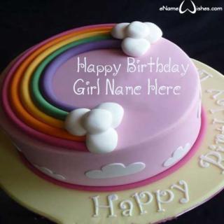 Amazing-Rainbow-Birthday-Wish-Name-Cake-for-Girls