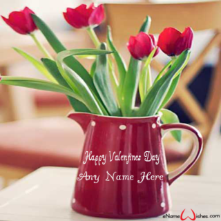 Amazing-Red-Flowers-Bouquet-Name-Wish-for-Valentines-Day