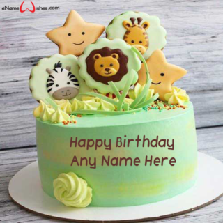 Amazing-Safari-Birthday-Name-Cake