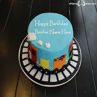 Amazing-Train-Birthday-Cake-with-Name-for-Brother