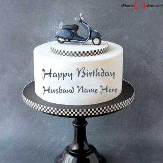 Amazing-Vespa-Birthday-Name-Cake