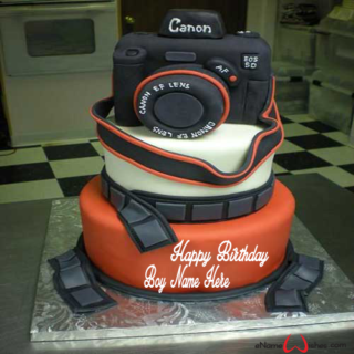 Awesome-Camera-Birthday-Wish-Name-Cake