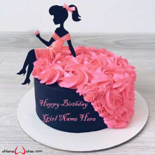 Barbie-Dress-Birthday-Name-Cake