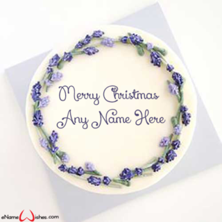 Beautiful-Cake-for-Xmas-with-Name