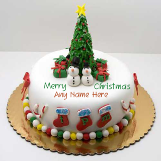 Beautiful-Christmas-Name-Wish-Cake
