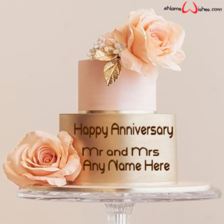 Beautiful-Flower-Anniversary-Cake-with-Name