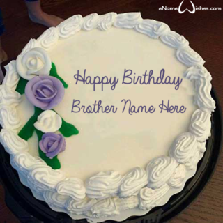 Beautiful-Flowers-Birthday-Cake-for-Brother-with-Name