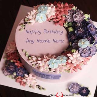 Beautiful-Flowers-Birthday-Name-Wish-Cake