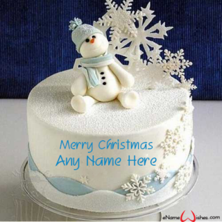 Beautiful-Frozen-Christmas-Wish-Name-Cake
