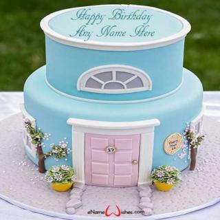 Beautiful-House-Birthday-Wish-Name-Cake