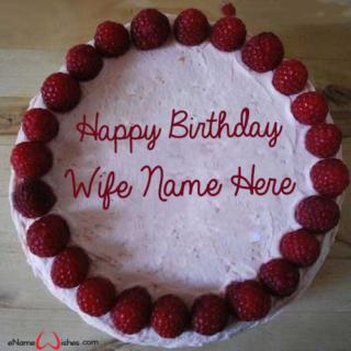 Beautiful-Raspberry-Birthday-Name-Cake