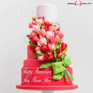 Beautiful-Red-Roses-Anniversary-Cake