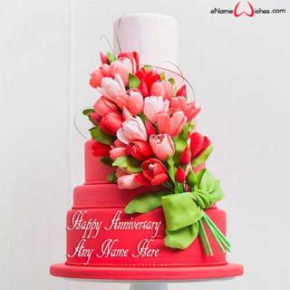 Beautiful-Red-Roses-Anniversary-Cake
