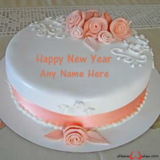 Beautiful-Rose-Flower-New-Year-Wish-cake-with-Name