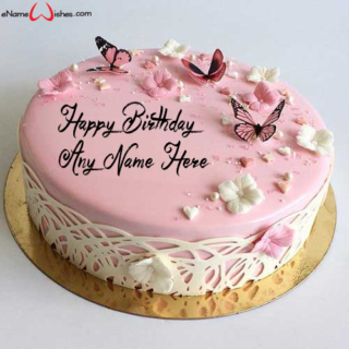 Best-Butterfly-Name-Cake-for-Happy-Birthday