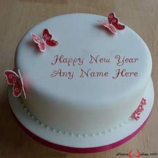 Best-Butterfly-New-Year-Wish-Cake-with-Name