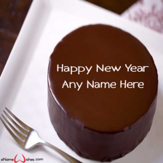 Best-Chocolate-New-Year-Wish-Cake-with-Name