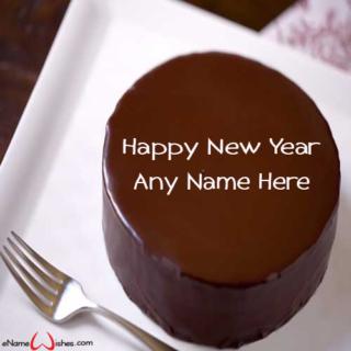 Best-Chocolate-New-Year-Wish-Cake-with-Name