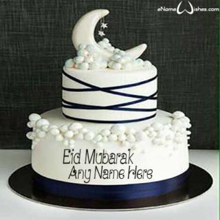 Best-Eid-Mubarak-Name-Wish-Cake