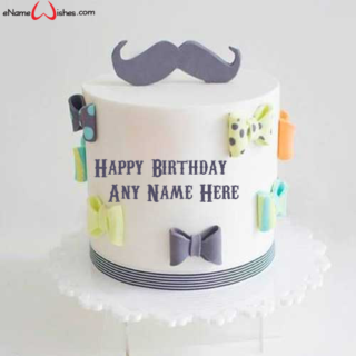 Best-Mustache-Themed-Birthday-Name-Cake