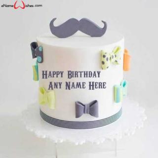 Best-Mustache-Themed-Birthday-Name-Cake