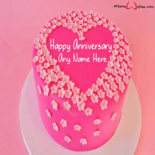 Best-Pink-Velvet-Wedding-Name-Wish-Cake