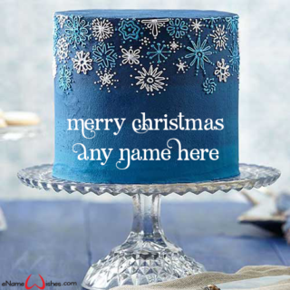 Best-Snowfall-Cake-for-Christmas-with-Name