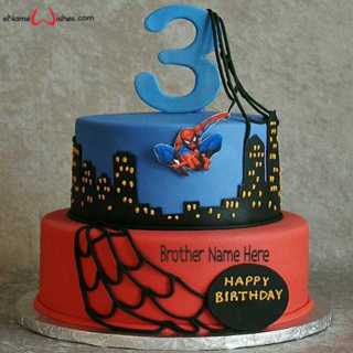 Best-Spider-Man-Name-Birthday-Cake