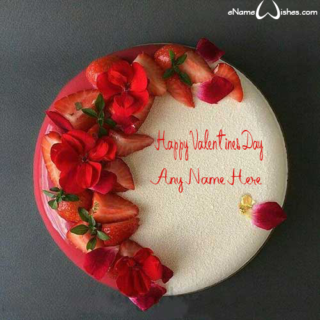 Best-Strawberry-Name-Wish-Cake-for-Valentines-Day