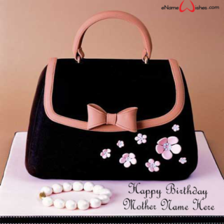 Black-Purse-Birthday-Name-Wish-Cake