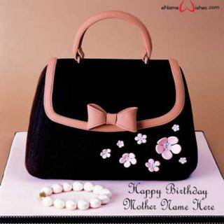 Black-Purse-Birthday-Name-Wish-Cake