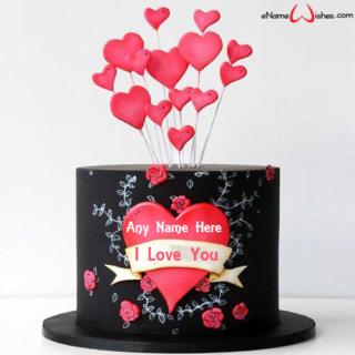 Black-Velvet-Love-Name-Cake
