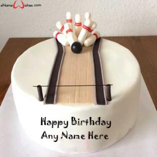 Bowling-Themed-Birthday-Wish-Name-Cake