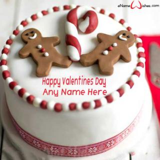 Chocolate-Cookies-Valentines-Day-Wish-Name-Cake