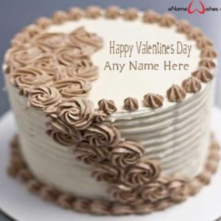 Chocolate-Valentine-Cake-with-Name
