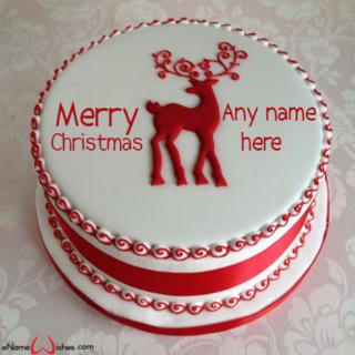 Christmas-Celebration-Cake-with-Name